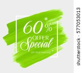 sale special offer 60  off sign ... | Shutterstock .eps vector #577053013