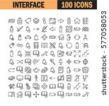 thin line icon set. collection...   Shutterstock .eps vector #577058053