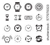clock icon isolated. time logo  ... | Shutterstock .eps vector #577070323