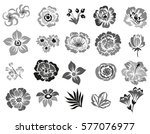 flower set | Shutterstock .eps vector #577076977