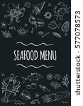 seafood menu template page... | Shutterstock .eps vector #577078573