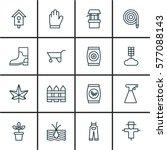 Set Of 16 Gardening Icons....