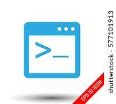 coding icon. simple flat logo...