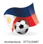 philippines flag waving football | Shutterstock .eps vector #577113487