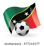 saint kitts and nevis flag... | Shutterstock .eps vector #577114177