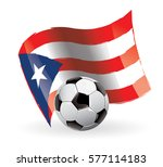 puerto rico flag waving football | Shutterstock .eps vector #577114183