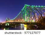 brisbane's story bridge at... | Shutterstock . vector #577127077