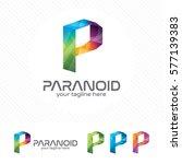 colorful letter p logo design... | Shutterstock .eps vector #577139383