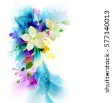 tender background with white... | Shutterstock .eps vector #577140013
