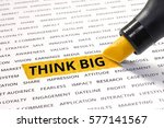 think big word highlighted with ... | Shutterstock . vector #577141567