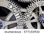 macro photo of tooth wheel... | Shutterstock . vector #577153933