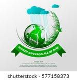 green eco. vector composition...   Shutterstock . vector #577158373