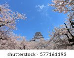 aizuwakamatsu castle and cherry ... | Shutterstock . vector #577161193