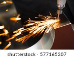drill with diamond tipped... | Shutterstock . vector #577165207