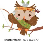 mascot illustration featuring a ... | Shutterstock .eps vector #577169677