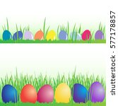 colored easter eggs ... | Shutterstock . vector #577178857