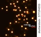 neon molecular structure of dna ...   Shutterstock .eps vector #577194553
