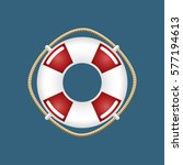 lifebuoy  travel concept  ship... | Shutterstock . vector #577194613