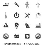 electricity vector icons for... | Shutterstock .eps vector #577200103