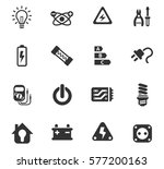 electricity vector icons for... | Shutterstock .eps vector #577200163