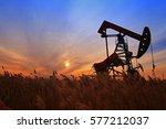 the oil pump  industrial... | Shutterstock . vector #577212037