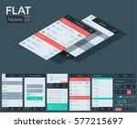 flat user interface mobile...
