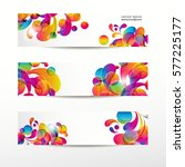 abstract web banners with... | Shutterstock .eps vector #577225177