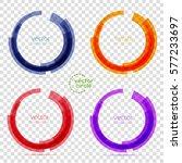 circle set. vector illustration.... | Shutterstock .eps vector #577233697