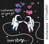 love story of boy and girl... | Shutterstock .eps vector #577233907