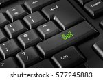 computer keyboard with sell key | Shutterstock . vector #577245883