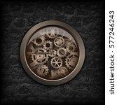 vector illustration. metal... | Shutterstock .eps vector #577246243