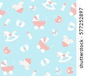 seamless baby pattern. vector... | Shutterstock .eps vector #577252897