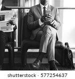 business man break hands hold...   Shutterstock . vector #577254637