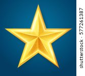 gold shining star. achieve  ... | Shutterstock .eps vector #577261387