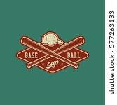 baseball club logo. vintage... | Shutterstock .eps vector #577263133