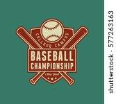baseball club logo. vintage... | Shutterstock .eps vector #577263163