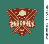 baseball club logo. vintage... | Shutterstock .eps vector #577263187
