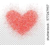 confetti heart. valentines day...   Shutterstock .eps vector #577267957
