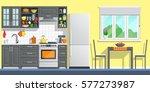 kitchen appliances with black... | Shutterstock .eps vector #577273987