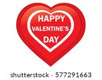 valentine red heart on white... | Shutterstock .eps vector #577291663