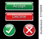 accept and decline buttons | Shutterstock .eps vector #57730009