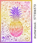 illustration of pineapple... | Shutterstock .eps vector #577306573