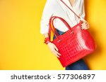 fashion concept. young woman... | Shutterstock . vector #577306897