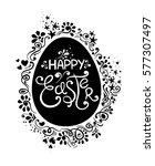 hand drawn happy easter... | Shutterstock .eps vector #577307497