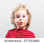 funny baby toddler blonde boy | Shutterstock . vector #577313683