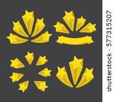 a set of stars. yellow stars... | Shutterstock .eps vector #577315207