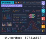 abstract infographics set with... | Shutterstock .eps vector #577316587