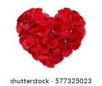 beautiful heart of red rose... | Shutterstock . vector #577325023