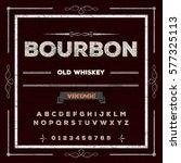bourbon font handwritten vector ... | Shutterstock .eps vector #577325113