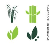 sugar cane flat icons set... | Shutterstock .eps vector #577325443